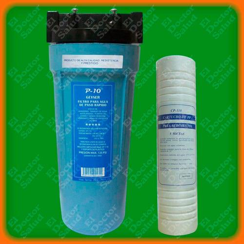 Filtro Geyser #10 -  Para Tanque De Agua - Ozono - Lavadoras