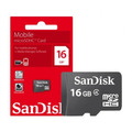 Memoria Microsd  16gb  Sandisk Camara Celular Tablet Pc