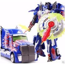Transformer Oprimus Prime Con Luz Y Sonido Se Hace Gandola