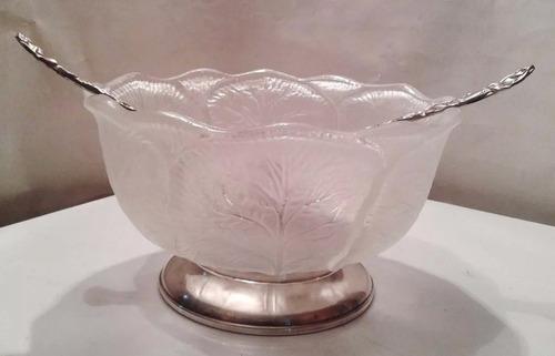 Ensaladera cristal p fiestas c cubiertos b o plata italian for Cubiertos de plata precio