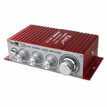 Mini Amplificador Kínter 12v Para Moto, Carro, Pc O Casa