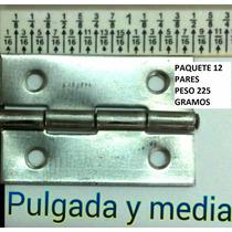 Bisagra De Metal 1 X 1 1/2 Para Mueble Precio X Par