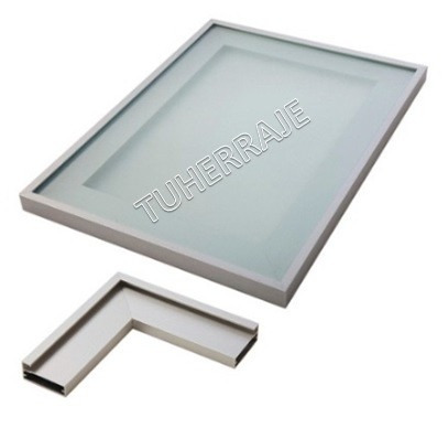 Perfil Aluminio Puertas De Vidrio 2cm Cocina Empotradas Bs
