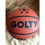 Balon De Basketball Golty Pro Gold Semicuero Baloncesto
