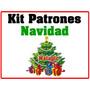 Kit Imprimible Patrones Navidad Botas Muñecos Arbol Fieltro