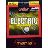 Juego Cuerdas Bajo Electrico 4 Cuerdas Alice Prof *rematando