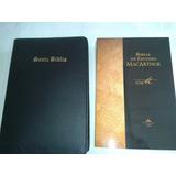 Biblia De Estudio Macarthur Con Forro Económica Al Mayor