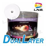 Dvd+r Doble Capa 8x Imprimible Marca Ok Plus / 10 Unidades