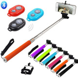 Monopod Selfie Control Remoto Forro Original Android iPhone
