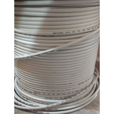 Cable Coaxial Rg6 (0.4v El Metro) Blanco, Inter, Movistar