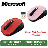 Mouse Optico Inalambrico Sculpt Mobile (rojo & Rosado)