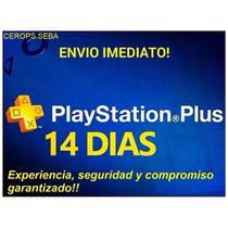 Membresia Playstation Plus Psn 14 Dias Onlines