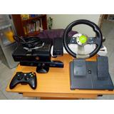 Xbox 360 Chipeado.kinect Mas Volante Y Pedales Sin Detalles.
