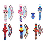 Reloj 3d Proyector Spiderman Cars Paw Patrol Iron Lol Pony