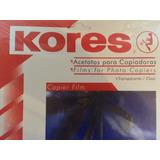 Laminas De Acetato Transparente Para Fotocopiadoras Kores