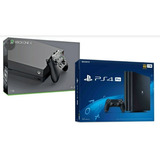 Xbox One X Y Ps4 Pro 1 Tb  Selladas + Juego Fisico