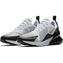 Zapatos Nike Airmax 270 Blanconegrodorado en venta en