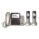 Telefono Fijo Panasonic Kt-tgf352 Inalambrico 2 Auxiliares