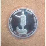 Escasa Moneda Del Bcv De Cristobal Colon De Plata Dos Mundos