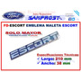 Emblema Maleta Escort (solo Mayor) C/u Ford ESCORT
