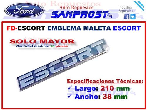 Emblema Maleta Escort (solo Mayor) C/u Foto 1