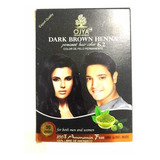 Pigmento Henna Marron Oscuro Semipermanente Ojya  Indu
