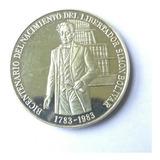 Moneda De Plata .bicentenario Nac. Libertador .