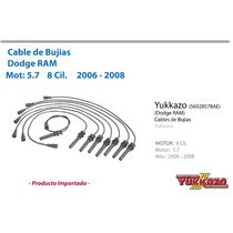 Cable Bujias Dodge Ram Mot5.7 8cil 2006-2008
