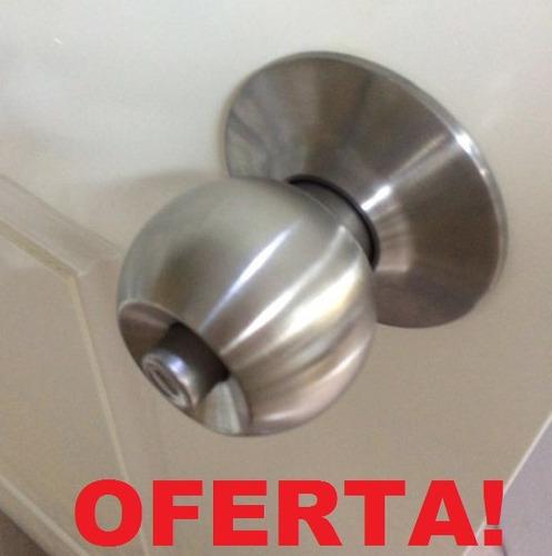 Cerradura de pomo para puertas 3 llaves acabado acero bs f - Cerraduras pomo para puertas ...