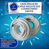 Cable Coaxial Rg6 + Conectores Gratis Direc-tv (6verd)
