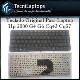 Teclado  Para Laptop Hp 2000 G4 G6 Compaq Cq43 Cq57 25trump