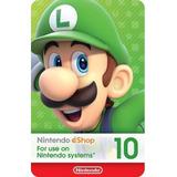 Tarjetas De Regalo Nintendo Switch - 10 Puntos