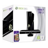 Xbox 360 Slim 250gb Kinect Con Juego Nuevo