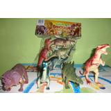 Set De 4 Dinosaurios, Resistente Y De Muy Buena Calidad.