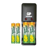 Cargador Gp + 4 Baterias 2 Aa 1000mah Y 2 Aaa 400mah A002
