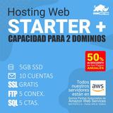 Hosting Hospedaje Web Starter+ Dos Dominios Pago Mensual