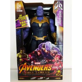 Pantera Negra Thanos Ironman Hulk Ironspider Luces Sonido 8v