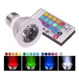 Bombillo Reflector Led Multicolor Con Control Remoto 3w 081