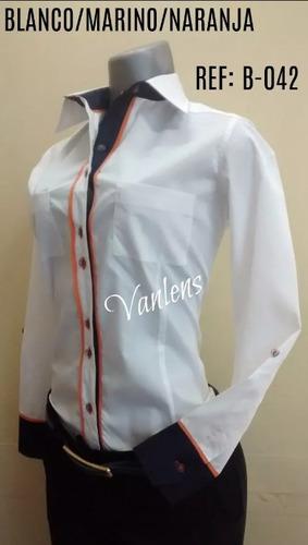 576f9d89e64 Camisas Blancas Casuales De Popelina Stretch Para Dama Nuevo. Distrito  Capital. 46900. 5 vendidos. Camisa Dama Manga Larga