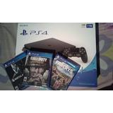 Playstation 4 Slim 1tb Ps4 Con Farcry 5, Mk Xl, Cod Wwii New
