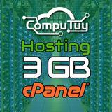 Web Hosting Y Dominio (.ve), Cpanel - 3gb De Espacio X 1 Año