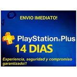 Psn Plus 14 Dias Ps4 (envío Inmediato)