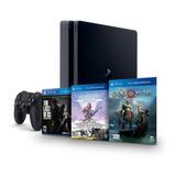 Playstation 4 - Ps4 Slim 1tb + 3 Juegos