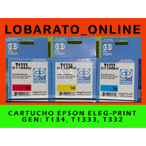 Cartucho Epson T1332, T1333,t1334 Gen Elegprint Solo Color