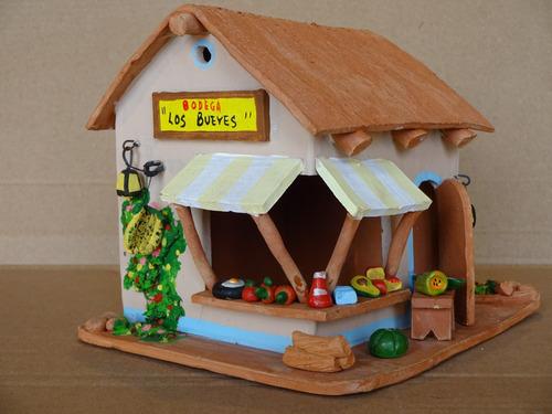 artesania casa fruteria en arcilla regalo decoracion hogar