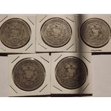 Excelente Colección 22 Monedas De Plata. Fuerte 5 Bolívares.
