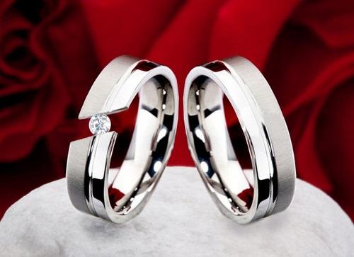 5f66d4355a5f Argollas- Anillos- Matrimonios --bodas-acero 316l - BsF 999990 en ...