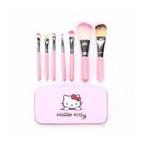 Set Estuche 7 Brochas Hello Kitty Mac Maquillaje