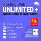 Hosting Hospedaje Web Unlimited Plus - Pag Mensual