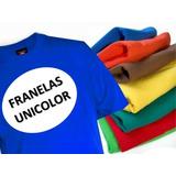 Franelas Unicolor Para Estampar 100% Algodon